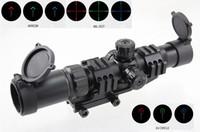 rifle scope - 1 X30 Tri Illuminated Mil Dot Horseshoe Chevron Reticle Scope with Locking Turrets