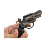 Wholesale 3 quot L Imitation Revolving Revolver Metal Pistol Hand Gun Model Toy Guns with Key Chains Key Rings Gift