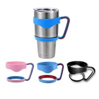 Wholesale Rambler Handles for YETI Cups oz Cool summer for Outdoor Travel Portable Double NO LOGO Black Red Pink Blue Purple Gray colors