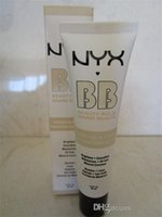 Wholesale 2016 New Arrival NYX BB Cream beauty balm baume beaute brightens smoothes moisturizes oil free Mineral Enriched ml Colors Best quality