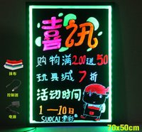 Wholesale LED Writing Board Fluorescent plate aluminum side LED Message Board Electronic Fluorescent Board LED Advertising Board