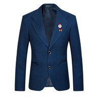 Wholesale new arrival high quality famous brand blue wine casual blazer Business suit jacket size S M L XL