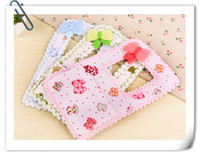 Wholesale 10 Cute Bow Fabric Switch Stickers with Pocket for Phone Charging Socket Sets Home Decor