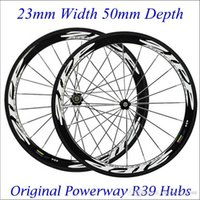bicycles performance - Lightweight Carbon Wheelset ZI P C mm Road Bike Clincher Tubular Rims High Performance Bicycle Wheels Carbon Powerway R39 Hubs