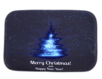 bedroom blue carpet - 40 cm Blue Christmas Tree Bath Mats Anti Slip Rugs Coral Fleece Carpet For For Bathroom Bedroom Doormat Online