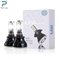 auto headlamps - 1 Pair W LM G5 Auto Car LED Headlight H7 H8 H9 H11 K High Power COB Leds Headlamp Light Bulbs Kit