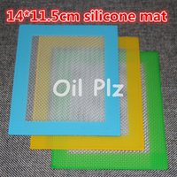 Wholesale Silicone wax pads mats small x8 cm or x11 cm square mat dabber sheets jars dab tool for silicon dabber oil containers