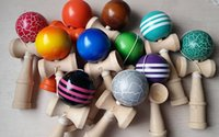 Wholesale Kendama Ball Japanese Traditional Wood Game Colors cm Toy Education Gifts Hot SaleActivity Gifts Jokes Funny Toys