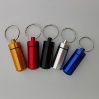 best medicines - key holder Aluminum Waterproof Pill Shaped Box Bottle Holder Container Keychain medicine Keyring keychain box mm colors best