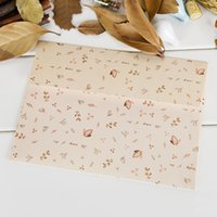 Wholesale Create Design Small Floral Envelopes Printing White Kraft Paper Envelopes Cute Romantic Postcard Packing Envelopes