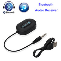 batteries car audio - Bluetooth Audio Receiver Stereo Music Hi Fi A2DP BM E9 V3 For Speaker AUX Car Kit With mm Adapter Built in Battery