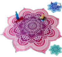 Wholesale Beach Blanket Indian Lotus Round Tapestry Yoga Mat Dorm Hippy Boho Beach Pad Colors
