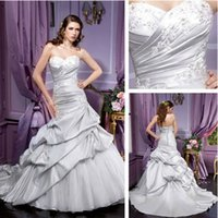 beautiful greek - Custom Made Beautiful Greek Style Wedding Dresses Sweetheart Tired Draped Court Train Taffeta Lace up Wedding Bridal Gowns New Arrival
