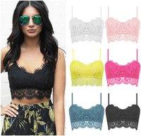 Wholesale Sexy Women Lace Crochet Bralette Bralet Bra Crop Bustier Top Blouse Tank Cami