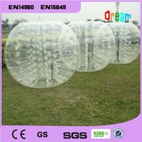 Wholesale 1 m Transparent Inflatable Bubble Soccer Ball Inflatable Human Hamster Ball Zorb Ball Bumper Ball