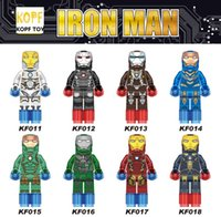 best iron sets - DHL EMS Fee KF011 Building Blocks Super Heroes The Avengers IRON MAN Minifigures Assemble Sets Model Bricks Kids Best Toys