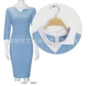 Wholesale Explosion of European stand and fall winter new dress high end brand of foreign trade