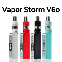 Cheap High Quality Electronic Cigarette Kit Vapor Storm V60 60W TC Box Mod Vape with Sub ohm Tank Atomizer Temperature Control E cig Mod Vaporizer