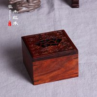 Wholesale Wood carving crafts ebony window carved auspicious clouds boxes incense incense incense box