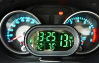 auto meters power - 2V V Digital Auto Car Thermometer Car Battery Voltmeter Voltage Meter Noctilucous Clock Freeze Alert VST V M18233 battery powered d
