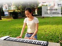 Wholesale Multifunction Keys Silicone Piano Flexible Roll Up Piano Roll Up Piano USB MIDI Electronic Keyboard Hand Roll Piano Portable