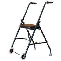 Wholesale New Folding Casters Fold Up Walker Rollator With Seat Rolling Wheel Handle Blue