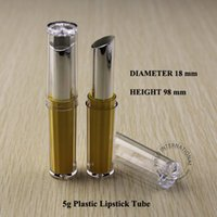 Wholesale 50 x High Quality Makeup Tools DIY Essential cc Empty UV Lipstick Tube ml Lip balm Bottles Lip gloss Containers
