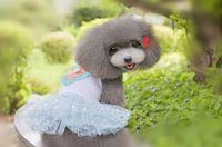Симпатичные платья любимчика Princess с красивейшим пальто собаки сердца персика звезд хорошее качество для весны Automn Розовый голубой цвет Минимальный заказ 50PCS
