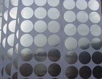aluminum foil labels - Size mm Aluminum foil sealing label cosmetic soft tube stickers
