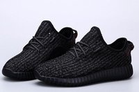 Wholesale Kanye West Boost Running Shoes Men and Women Breathable Pirate Black Shoes Brand Sneakers Kayne West Athletic Shoes colors