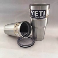Wholesale YETI oz Cup Stainless Steel Cooler YETI Rambler Tumbler For Travel Vehicle Beer YETI Mug Tumblerful Bilayer Vacuum Insulated