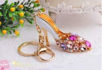 accesories cellphone - Key Chain Bag Purse Cellphone Pendant Fashion Accesories Charm Girl high heeled shoes G H16080411