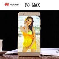 Wholesale New MTK6595 Octa core G phone Gram G rom huawei P8 MAX Mobile Phone unlocked Dual sim card WCDMA G GPS android6 inch metal phones