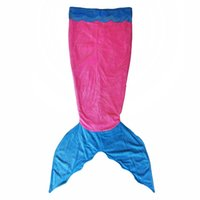 Wholesale Child Mermaid Tail Blanket Soft Warm Plush Fleece Sleeping Bag for Kids Teens Premium Quality Thicker Tail Fit for Feet