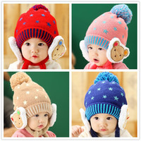 baby bear hat crochet pattern - Children Hats Baby Hats Winter New Pattern Christmas Pullover Hats Bear Earmuffs Hat good quality