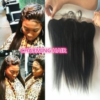 Wholesale 8A Brazilian Lace Frontal X4 Ear to Ear Human Hair Frontal Closures with baby hair Brazilian Straight Frontal Closures