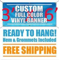 Wholesale 3 x Full Color Custom Banner High Quality oz Vinyl