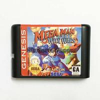 Wholesale DC MD SS SEGA Memery Cards Mega Man The Wily Wars bit MD Game Card For Sega Mega Drive For Genesis
