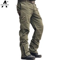 ag jeans men - Airborne Jeans Casual Combat Cotton Breathable Multi Pocket Military Army Camouflage Cargo Pants Trousers For Men AG MT