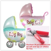 baby boy strollers - Foil Balloons Party Decoration x36 cm Baby Stroller Balloon Infant Baby Car Girl Boy Stroller Aluminum Film Balloons Party Supplies