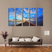 beautiful bridges - LK572 Panels Seascape And Bridge Sunshine Oil Paintings Beautiful Oil Painting Seascape Paintings art Canvas Printing Decoration Oil