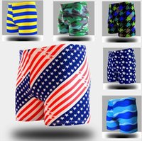 Cheap Trunks Mens Swimwear Best Polyester Geometric Mens swimsuits