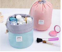Wholesale 5pcs Cosmetic Bag High Capacity Drawstring Elegant Drum Wash Bags Makeup Organizer Storage Bag