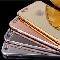 aluminium soft - Luxury Protector Cover Aluminium Ultra thin Mirror Metal Mobile Cell Phone Cases Soft Handy Case For Iphone s s Plus
