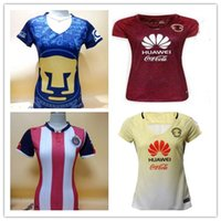 best buy clubs - DHL Mixed buy Women Chivas America Cougar soccer jerseys best quality Mexico club America yellow red Lady R SAMBUEZA soccer footba