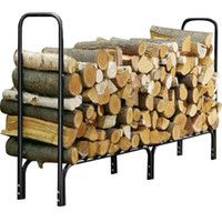 Wholesale New Feet Outdoor Heavy Duty Steel Firewood Log Rack Wood Storage Holder Black