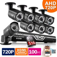 Wholesale ZOSI HD CH CCTV System P DVR P TVL IR Outdoor Video Surveillance Security Camera System CH DVR Kit TB HDD