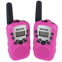 Wholesale 2PCS New Pink Walkie Talkie Retevis RT UHF MHz W CH For Kid Children LCD Display Flashlight VOX Two Way Radio