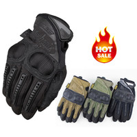 Finger Gloves airsoft military gear - Mechanix Wear M Pact Army Military Tactical Gloves Outdoor Motorcycle Cycling Hunting Gear Airsoft Shooting Paintball Full Finger Gloves