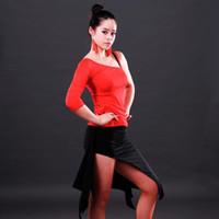 T-shirt Top de danse latine pour femme Standard Salsa Tango Pratique de loisir Costumes de danse 2016 Nouveauté Style d'été